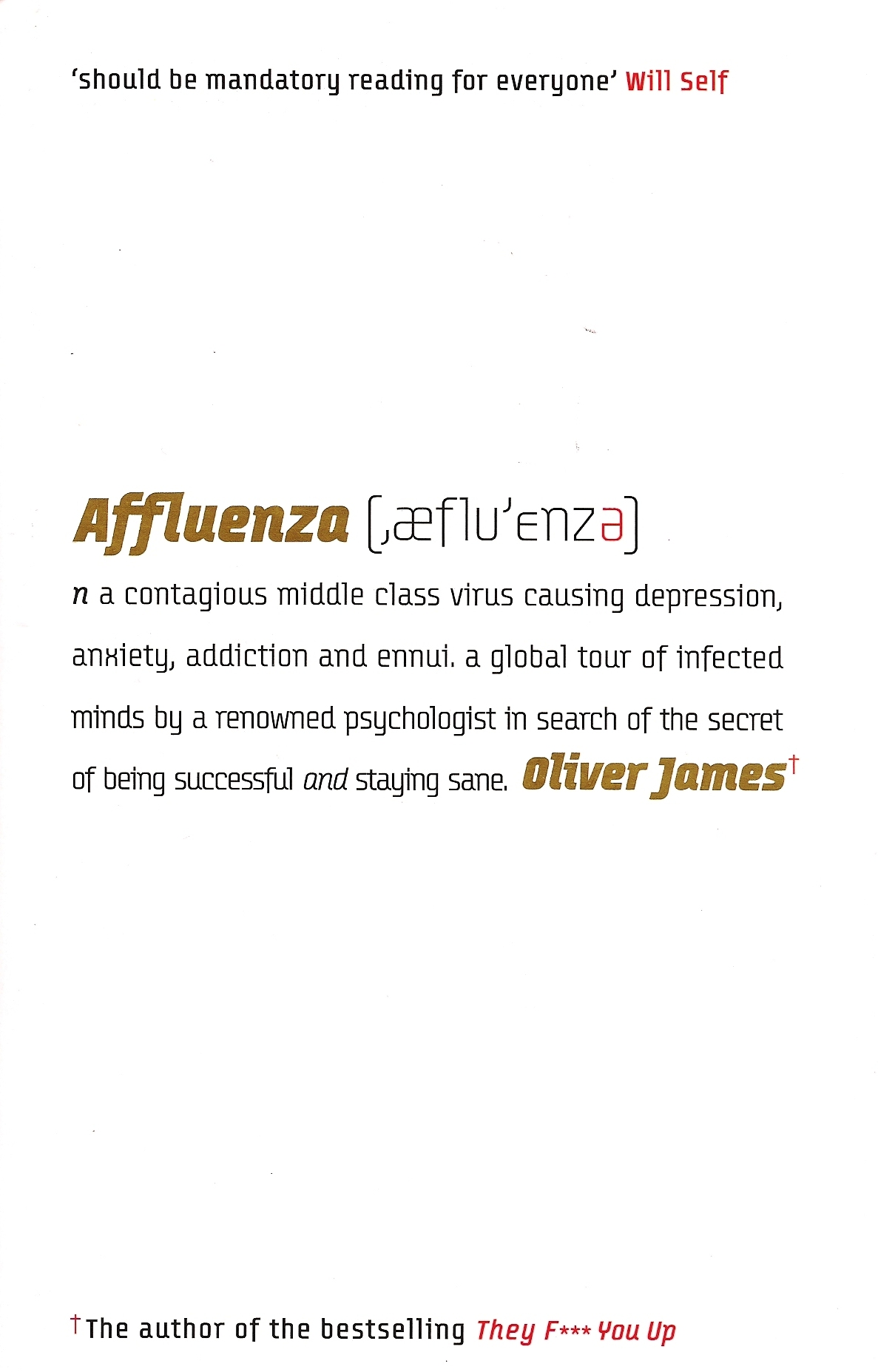Affluenza Oliver James Greatest Hits